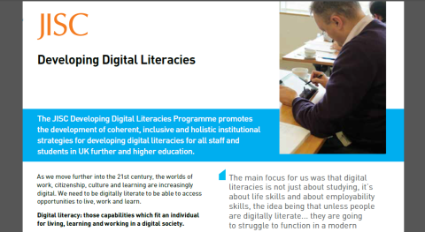 JISC Developing Digital Literacies briefing paper